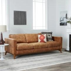 Overstock Sofa Sofas Online Bestellen Osterreich Shop Strick Bolton Filmore 89 Inch Tan Leather On Sale Amp