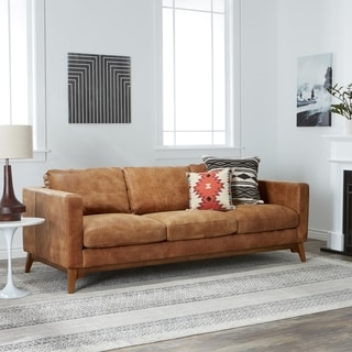 tan leather couch living room small with hardwood floors buy sofas couches online at overstock com our best strick bolton filmore 89 inch sofa