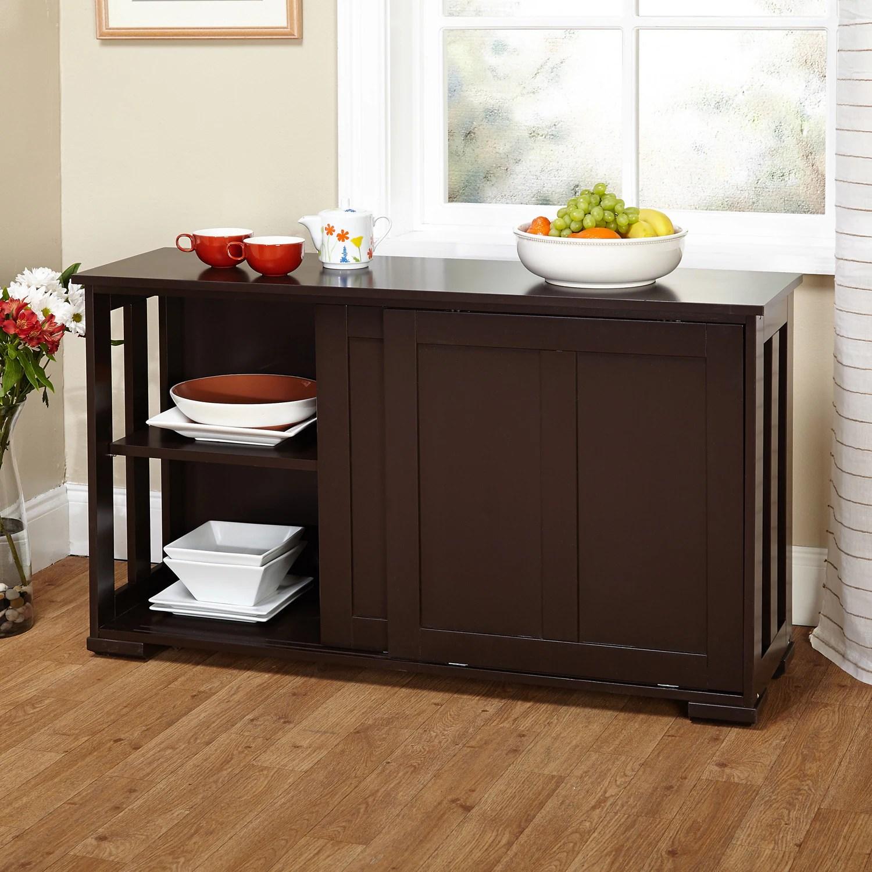 kitchen cabinets overstock oak table simple living sliding door stackable cabinet