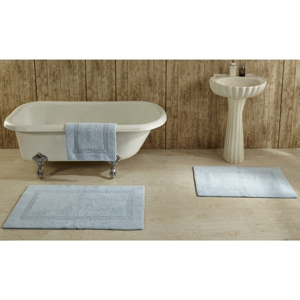 Lux 100-percent Cotton Tufted Reversible Rug or Bath Mat by Better Trends - On Sale - Overstock - 8846761