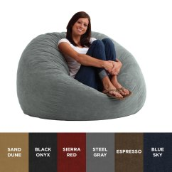 Memory Foam Bean Bag Chair Reviews Cooling Mat For Fufsack 4 Foot Large Microfiber