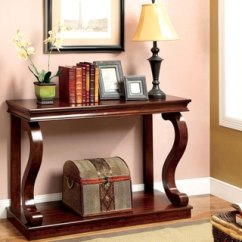 Overstock Sofa Living Room Ideas With Green Furniture Of America Prozy Classic Cherry Console Table ...