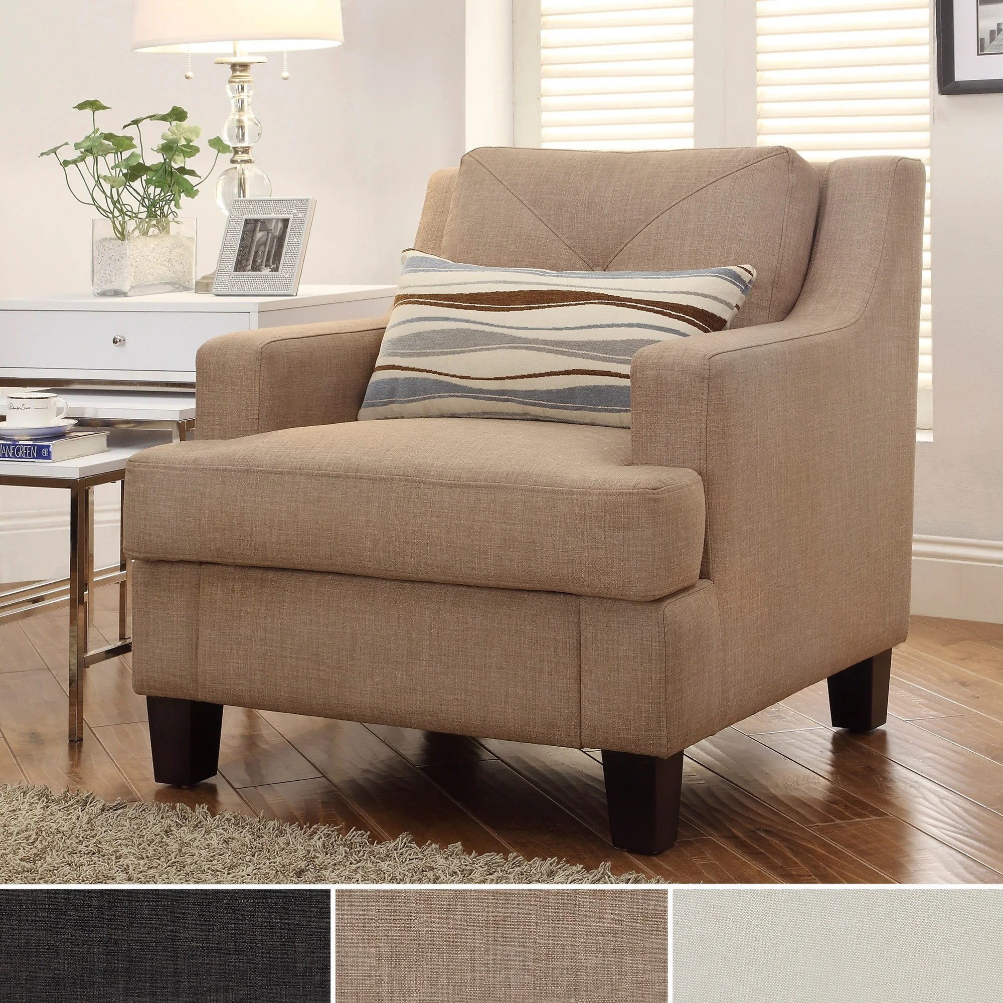 overstock arm chair cover hire cornwall inspire q elston linen sloped track