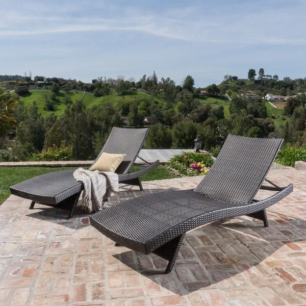 Toscana Outdoor Wicker Lounge Chairs By Christopher Knight Home Set Of