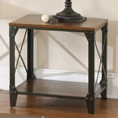 Laramie Sofa Reviews Outdoor Gliders Greyson Living Windham Square Solid Wood/ Iron End Table ...