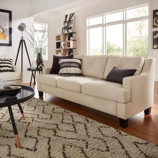 white couches living room gray blue and tan buy sofas online at overstock com our best elston linen tufted sloped track sofa inspire q modern