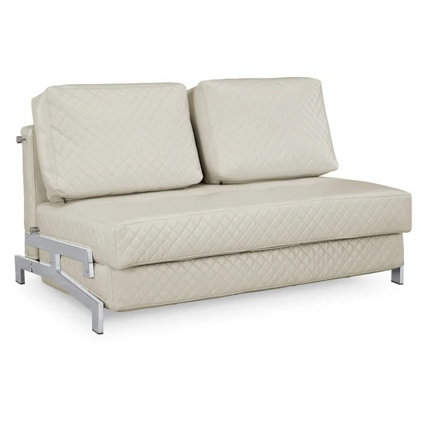 serta bonded leather convertible sofa how to fix a loose arm on shop st martin ivory sleeper free shipping today overstock com 8866502