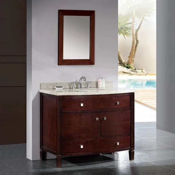 OVE Decors Georgia 42inch Single Sink Bathroom Vanity with Granite Top  16099716  Overstock