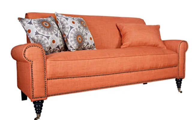 Handy Living Harlow California Vintage Orange Sofa Free