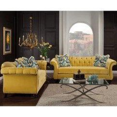 Agatha Sofa Reviews Images Of Living Rooms With Red Sofas Shop Furniture America 2-piece Tufted Velvet And ...