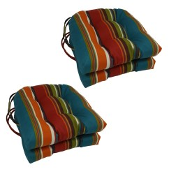 Outdoor Chair Cushions Set Of 4 Replacement Slings For Pvc Chairs Blazing Needles 16 Inch U Shaped Tufted