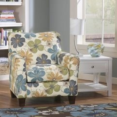 Floral Print Accent Chairs Aeron Chair Care And Maintenance Manual Shop Signature Design By Ashley Kylee Spa Blue Free Shipping Today Overstock Com 8896120