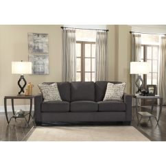 Ashley Alenya Quartz Sofa Reviews Craigslist Austin Leather Shop Signature Design By Charcoal And Accent Pillows