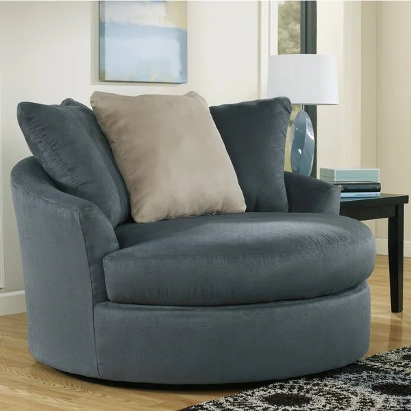 Signature Design by Ashley Mindy Indigo Oversized Swivel