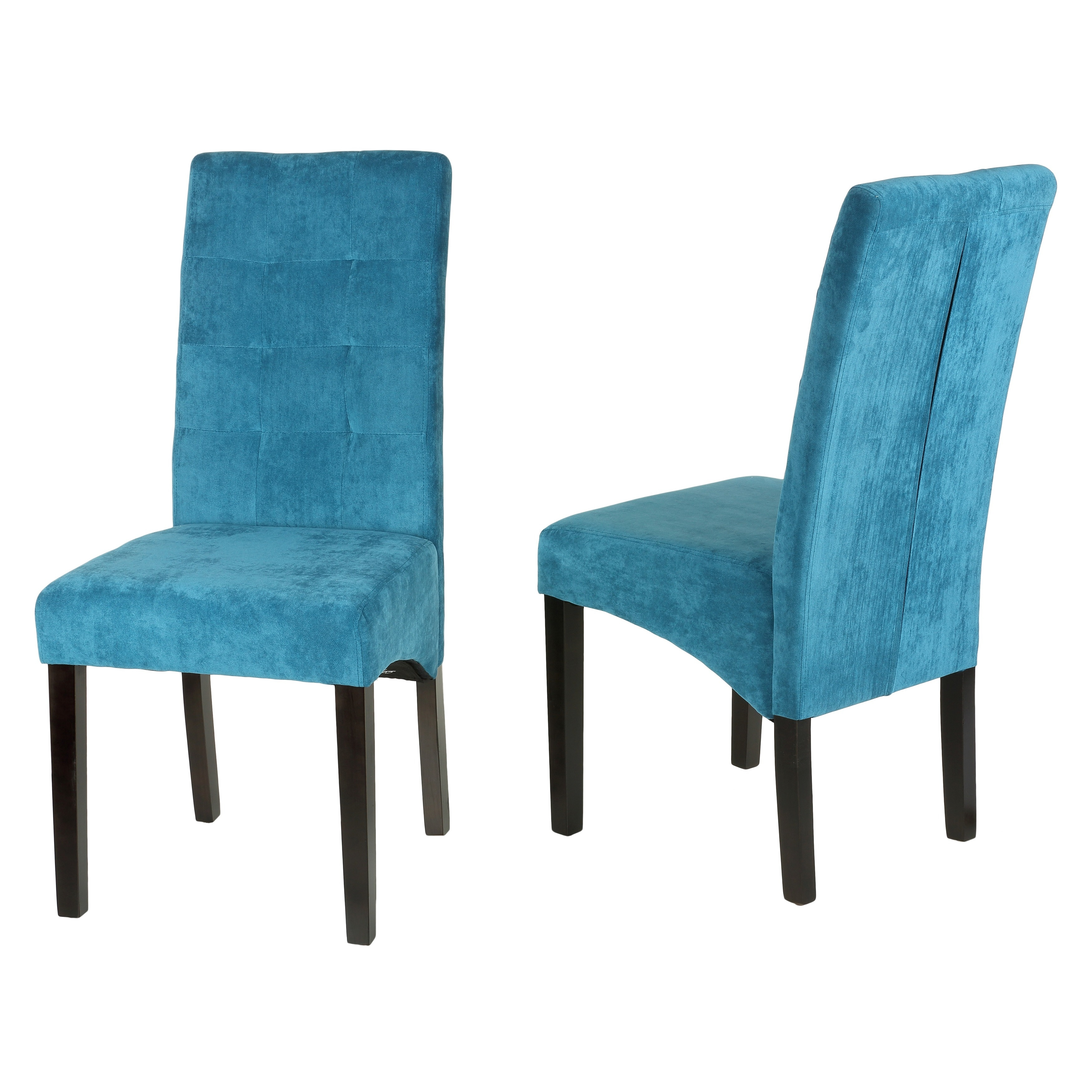 Microfiber Dining Chairs Cortesi Home 39monty 39 Blue Microfiber Dining Chairs Set Of