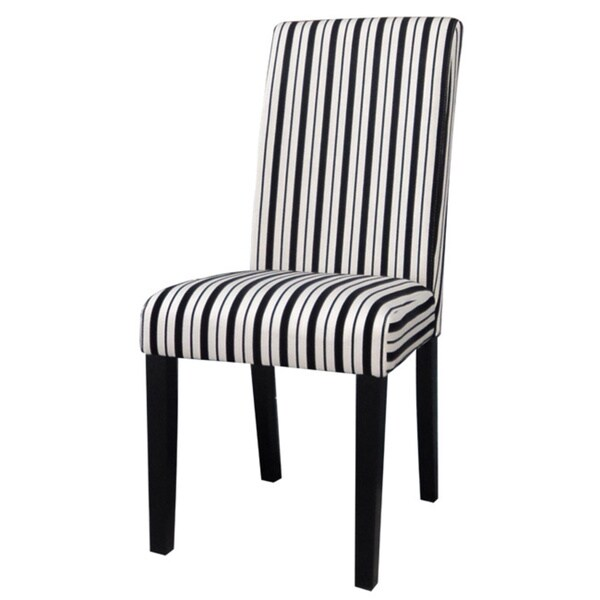striped dining chair black covers wedding shop somette white modern parson set of 2 free shipping today overstock com 8912728