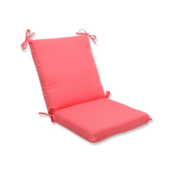Shop Pillow Perfect Outdoor Pink Squared Corners Chair