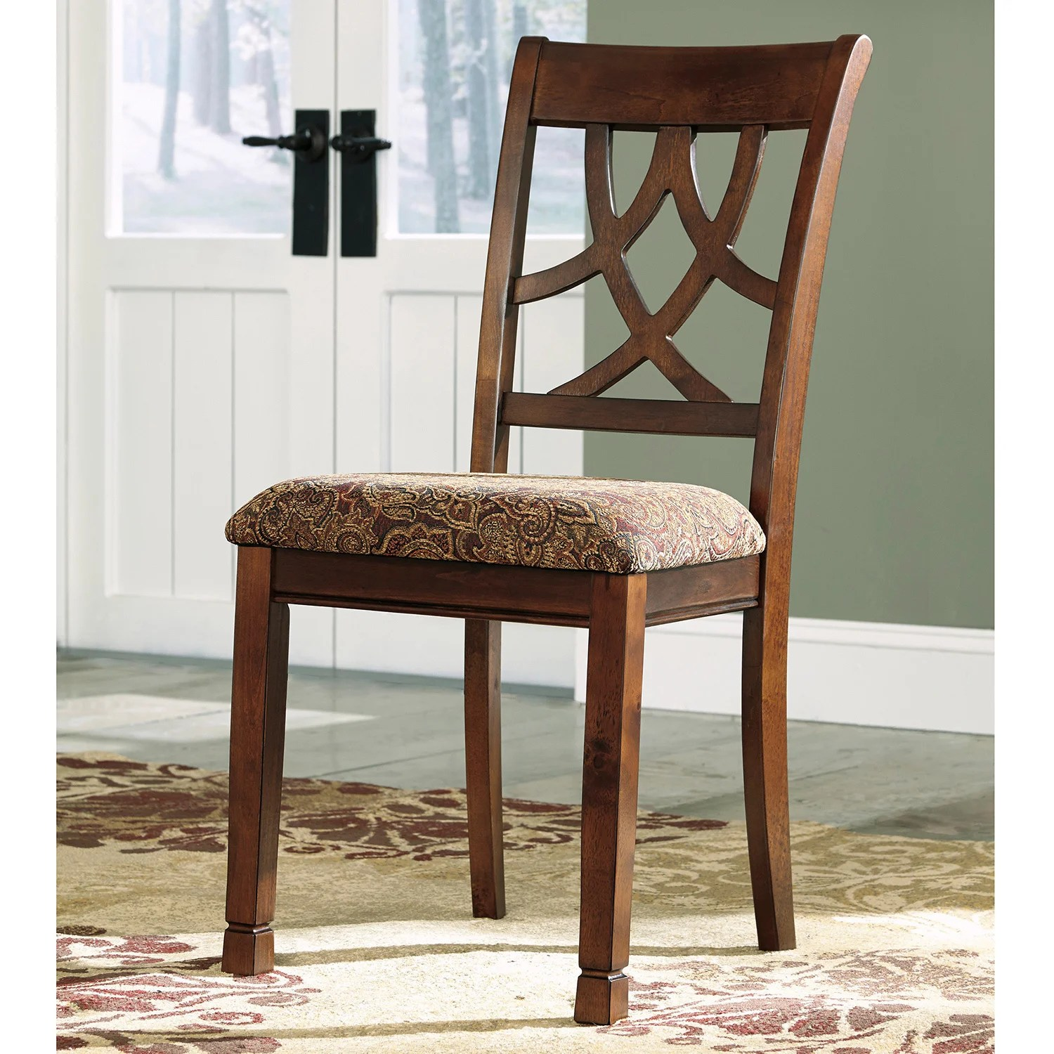 Cherry Wood Dining Chairs Signature Design By Ashley 39leahlyn 39 Brown Cherry