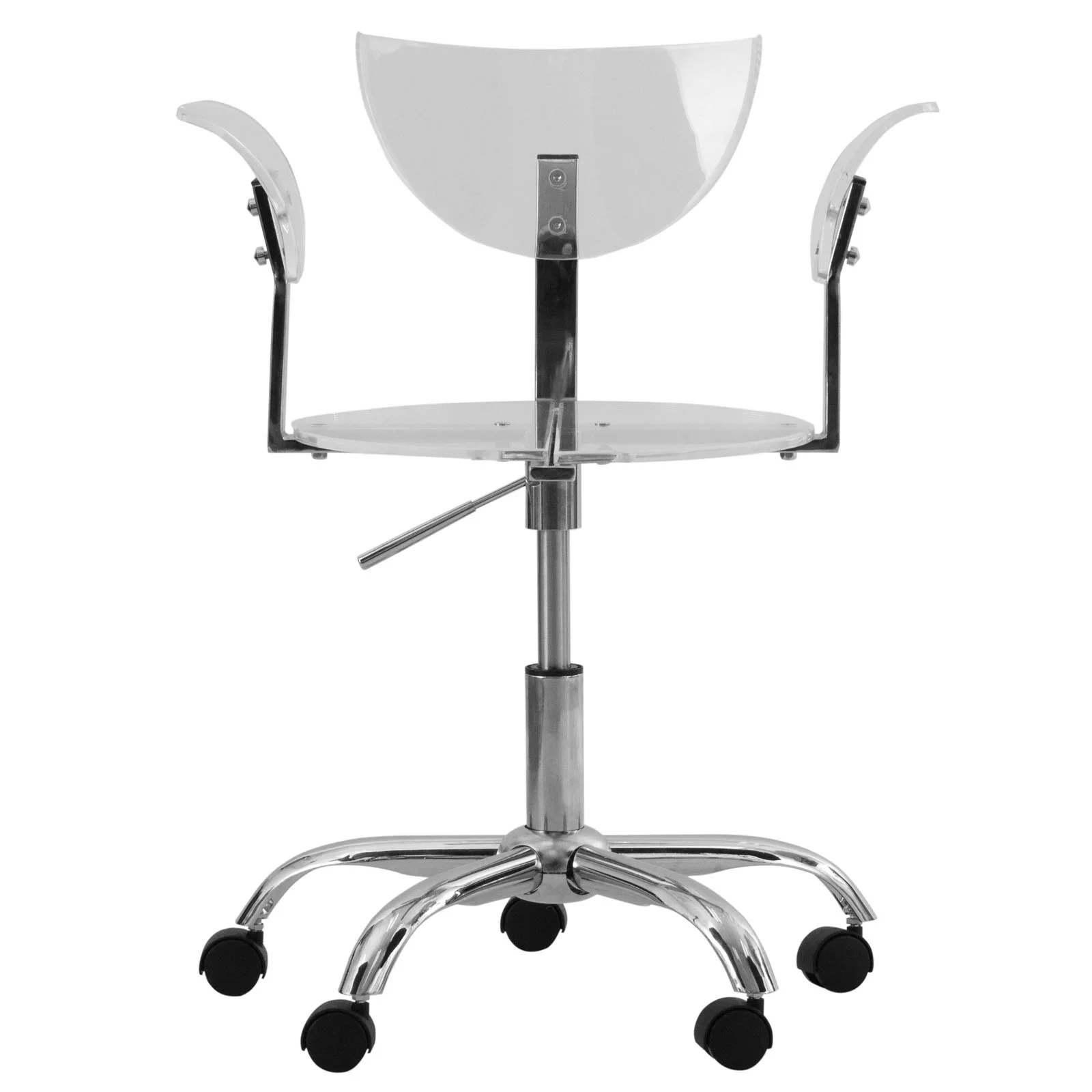 office chair overstock loose dining covers nz somette transparent acrylic adjustable swivel
