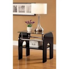 Natal Chrome And Glass Sofa Table Outdoor Patio Set Coffee, Console, & End Tables For Less ...