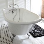 Classic Roll Top 60 Inch Cast Iron Clawfoot Tub With Tub Wall Drilling Overstock 8935371