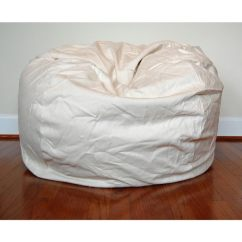 Classy Bean Bag Chairs Purple Saucer Chair Shop Cream Cotton Twill 36 Inch Washable Free Shipping Today Overstock Com 8949883