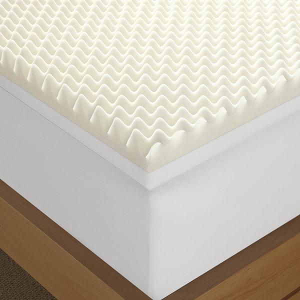 Serta Renewal 4 Inch Dual Layer Memory Foam Mattress Topper Free Shipping Today 16176875