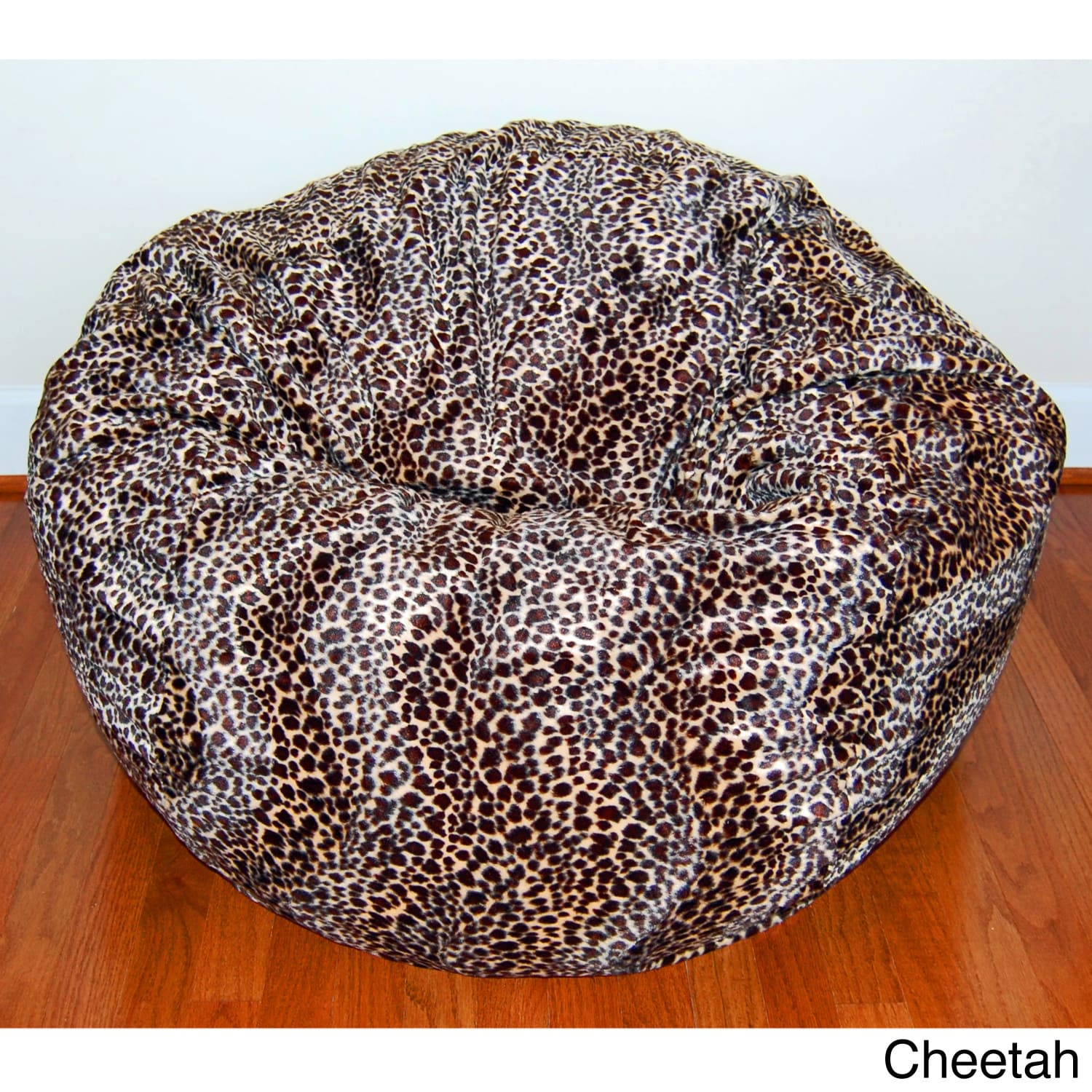 cheetah print bean bag chair electric execution footage ahh products 36 quotwide washable l