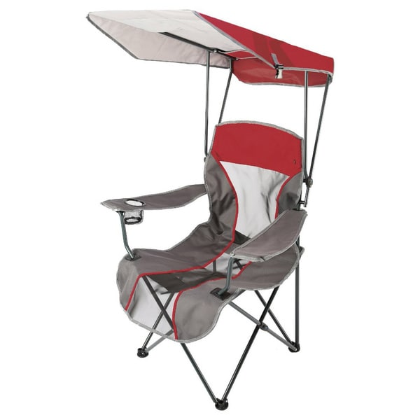 Shop Kelsyus Premium Red Canopy Folding Chair  Free