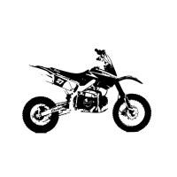 Dirt Bike Vinyl Wall Art Decal - 16178469 - Overstock.com ...