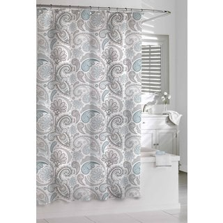 Garden Paisley Blue Grey Shower Curtain Free Shipping On Orders