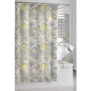 Garden Paisley Yellow And Grey Shower Curtain Free Shipping On