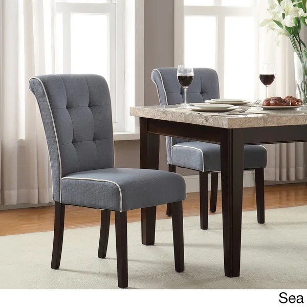 Shop Savanna Tufted and Rolled Back Armless Chair with