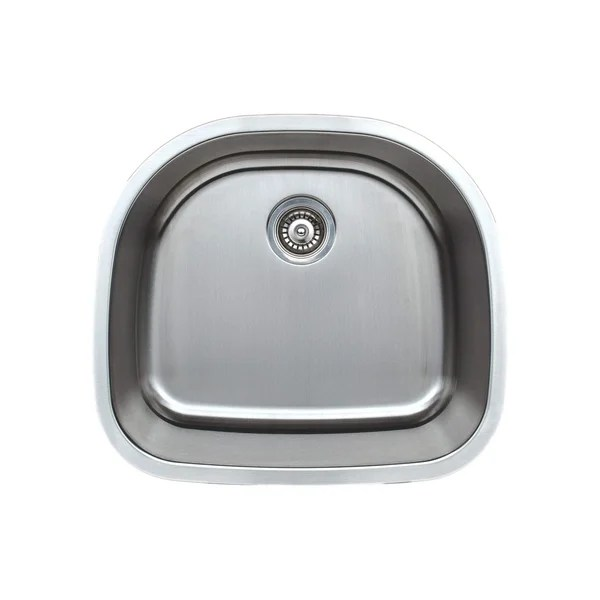 24 inch kitchen sink cabinets charleston sc shop wells sinkware craftsmen series 16 gauge undermount d shape single bowl stainless steel free shipping today overstock com