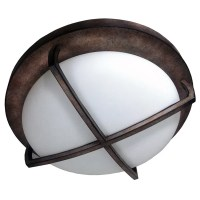 HomeSelects X Light 2-light Bronze Flush Mount Ceiling ...