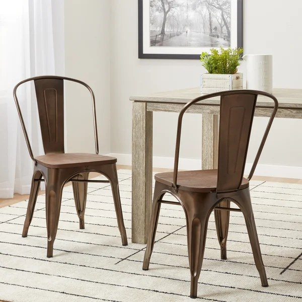bistro chairs dining room compact chair bed shop tabouret vintage wood seat set of 2 free