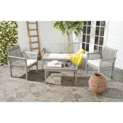 Christopher Knight Chair Big Daddy Safavieh Carson Grey Wash Acacia Wood 4-piece Outdoor Furniture Set - 16207347 Overstock.com ...