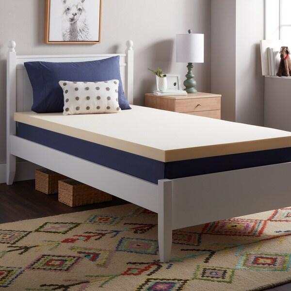 Select Luxury Flippable 2 Inch Bunk Bed Memory Foam Mattress Topper