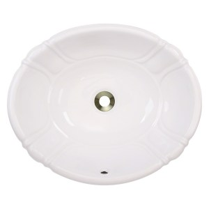 Polaris Sinks P5181OB Bisque Porcelain Vessel / Drop-In Bathroom Vanity Sink