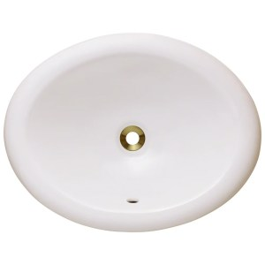 Polaris Sinks P7191OB Bisque Overmount Porcelain Vanity Bowl