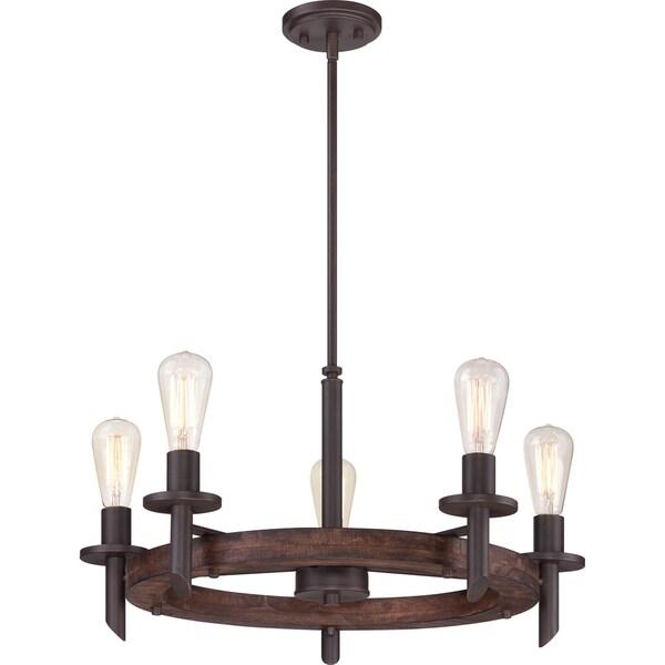 Quoizel Tavern Darkest Bronze 5 Light Chandelier