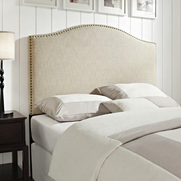 Shop Linen QueenFull Size Upholstered Headboard Free