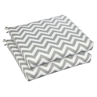 grey chair cushions baby bjorn shop bristol 20 inch indoor outdoor chevron cushion set 19