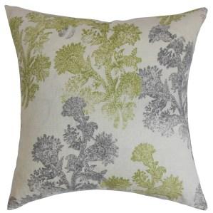 Eara Floral Down Filled Throw Pillow Moss