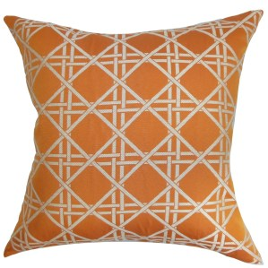 Daniele Diamonds Rosewood Down Filled Throw Pillow