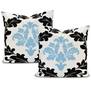 Exclusive Fabrics Deauville Printed Cotton Throw Pillow Cover (Set of 2)
