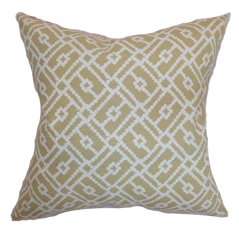 Majkin Sand Geometric Down Filled Throw Pillow