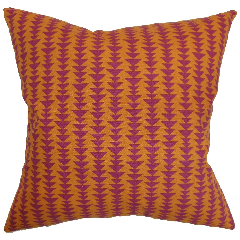 Jiri Mango Geometric Down Filled Throw Pillow