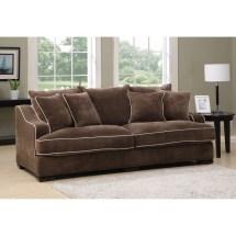 Emerald Caresse Mocha Filled Sofa