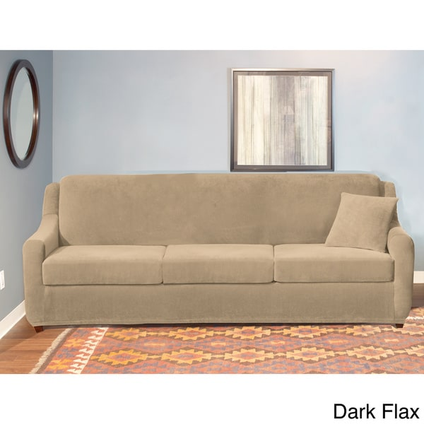 sure fit stretch pearson 3 pc sleeper sofa slipcover full baby couches sofas shop cushion